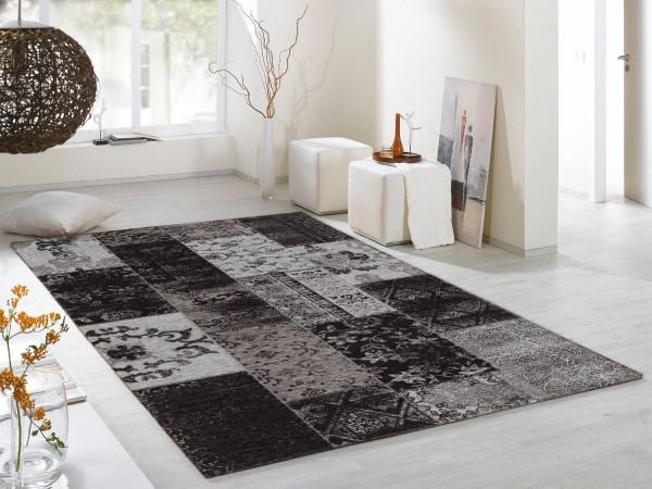 Alanis Allover 448 grau Vintage Teppich modern mit Ornamenten