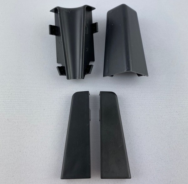 Ecken Innenecke Außenecke Endkappe für Sockelleisten 58mm schwarz