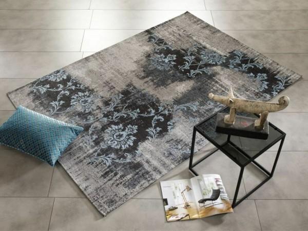 Diana Melody Fb. 822 grau-blau Vintage Teppich modern mit Ornamenten