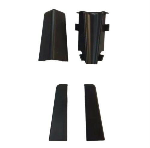 Innenecke Außenecke Abschlusskappe für 58mm Fußleisten schwarz