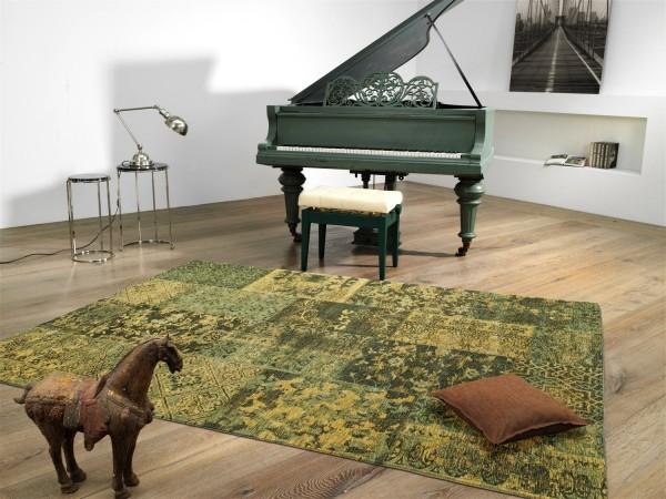Alanis Allover 445 grün Vintage Teppich modern mit Ornamenten